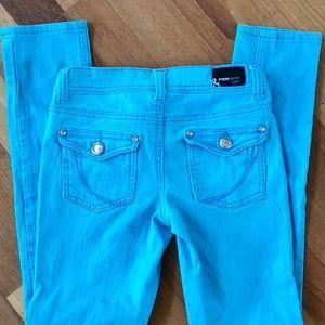 PAPER DENIM & CLOTH skinny jeans aqua blue
